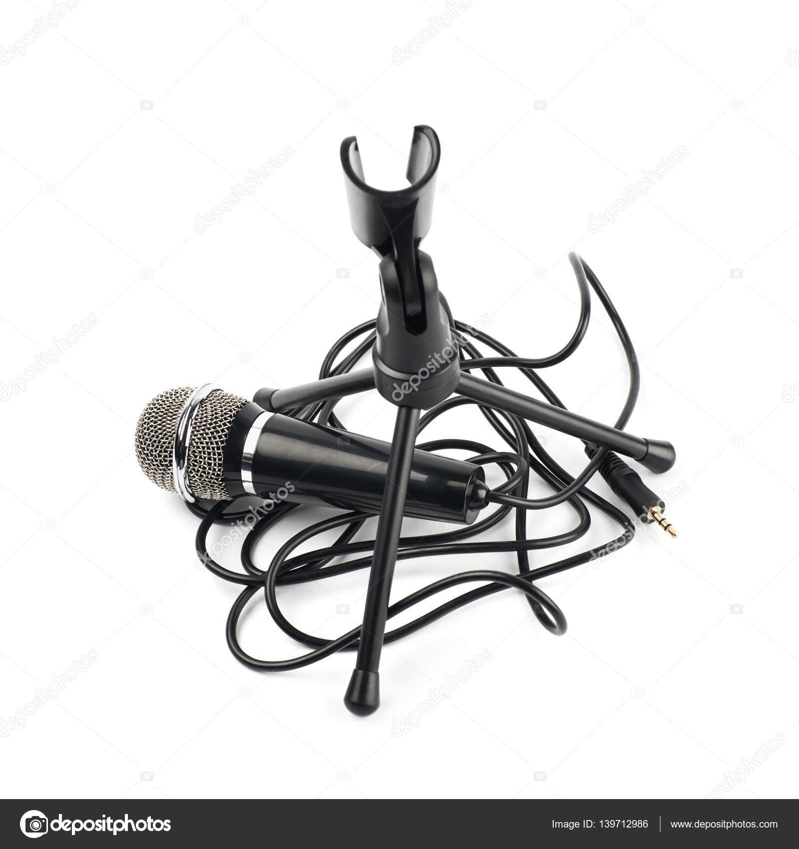 Micrófono y un bastidor de soporte aislados — Fotos de Stock ...