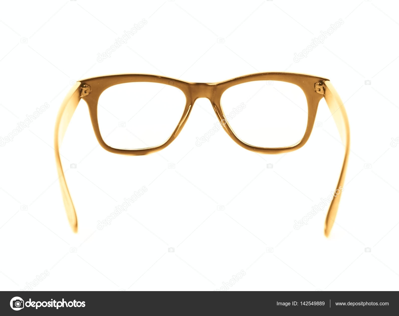 a337ada75ee Pair of wooden textured optical reading glasses isolated over the white  background — Photo by ...