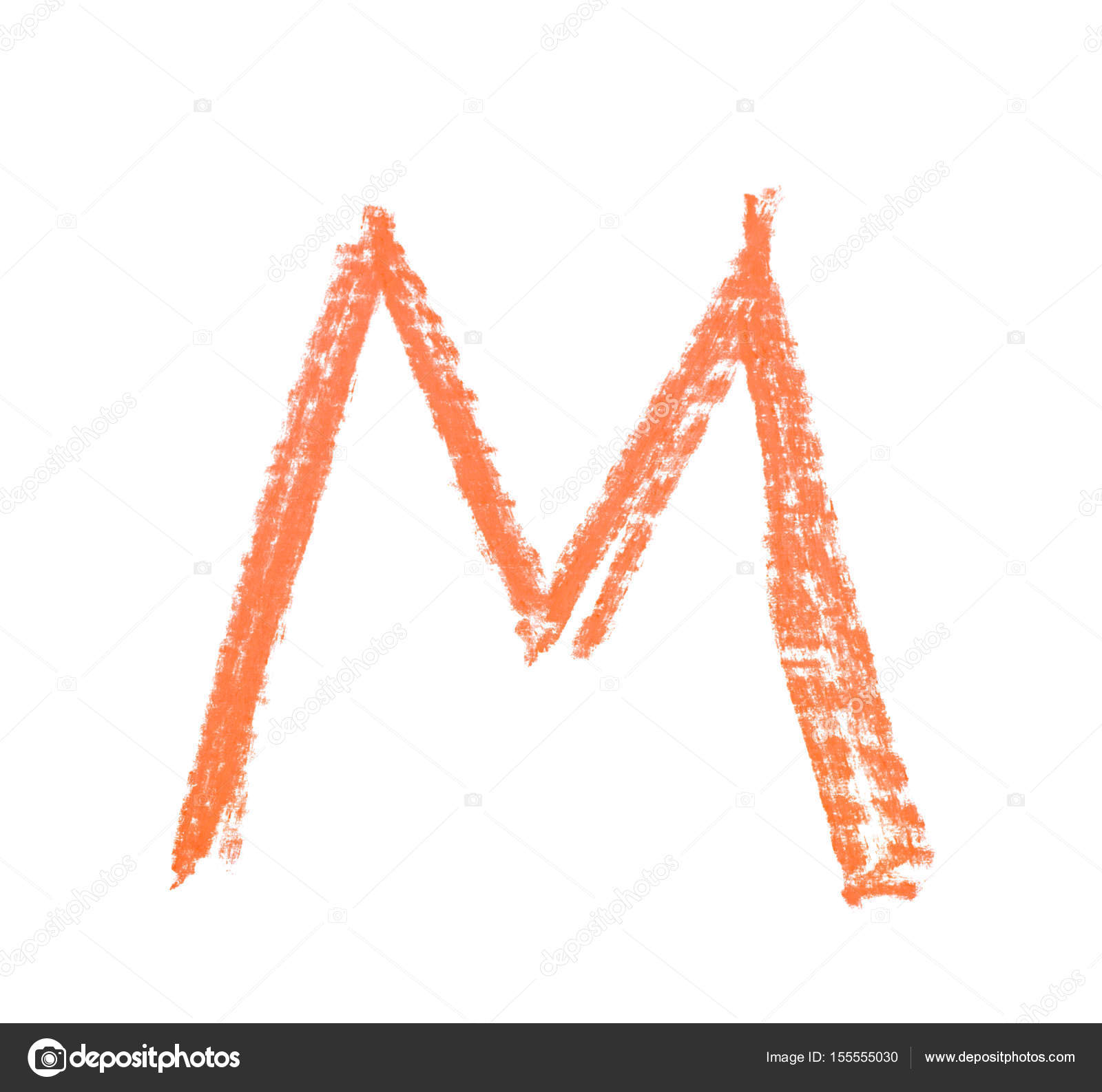 Single Hand Drawn Letter Isolated Stock Photo Nbvf89 155555030