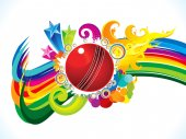 abstract artistic burning cricket ball background