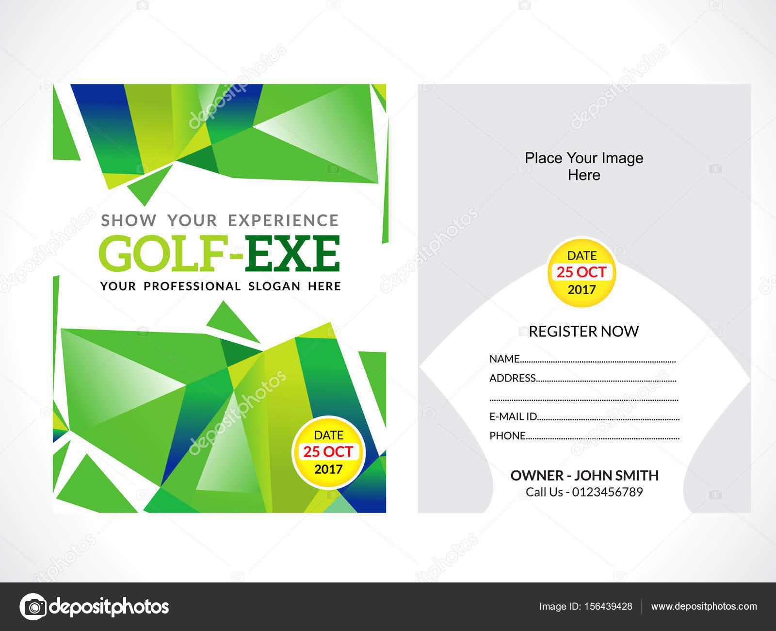 golf flyer template stock vector