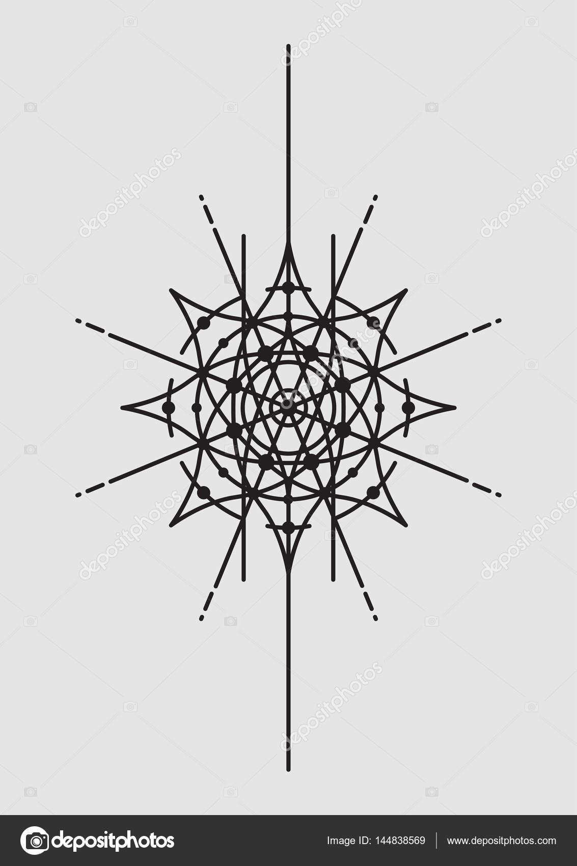 Abstract Geometric Vector Illustration, Mandala