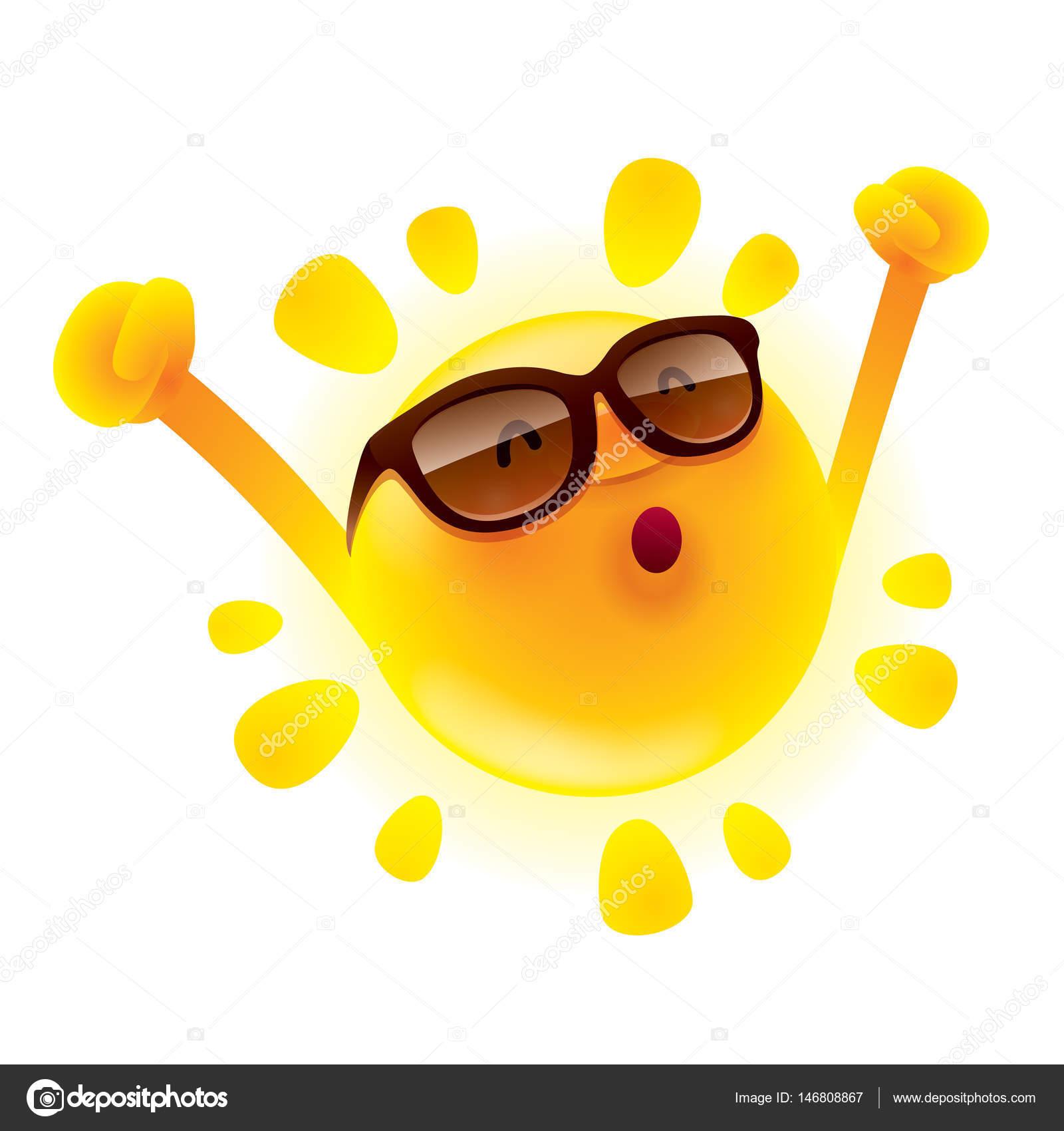 3ee20594f40ae6 stripfiguur van grappige zon in zonnebril — Stockvector © ori ...