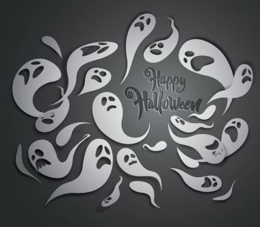 Spooky ghosts greeting card.
