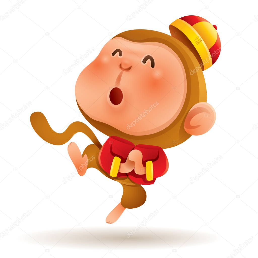 Happy Chinese New Year, with monkey