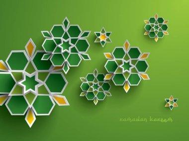 Ethnic Ramadan floral elements