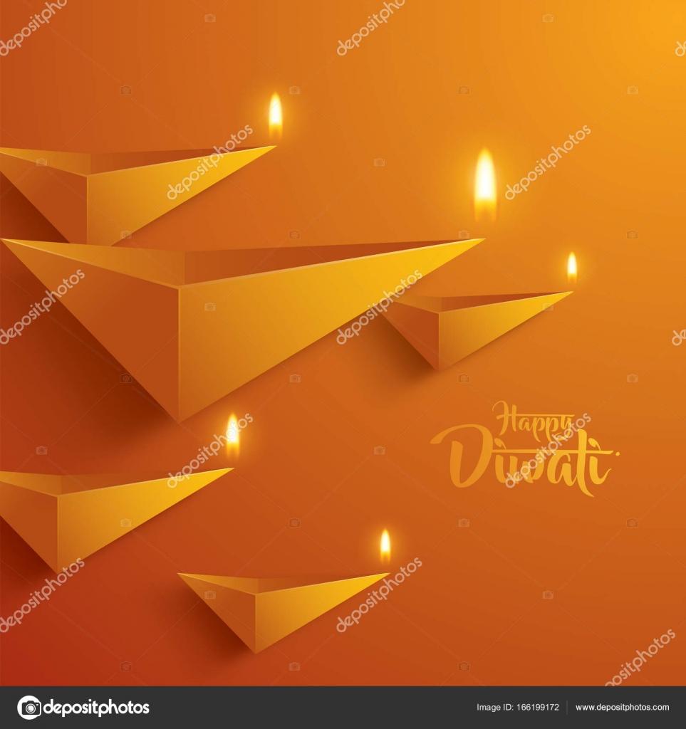 Happy Diwali Greeting Card Stock Vector Ori Artiste 166199172