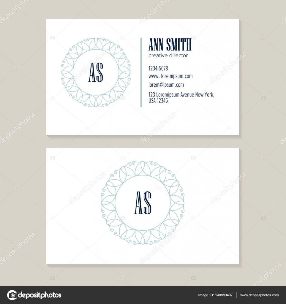 Plantilla tarjeta de visita de director creativo — Archivo Imágenes ...