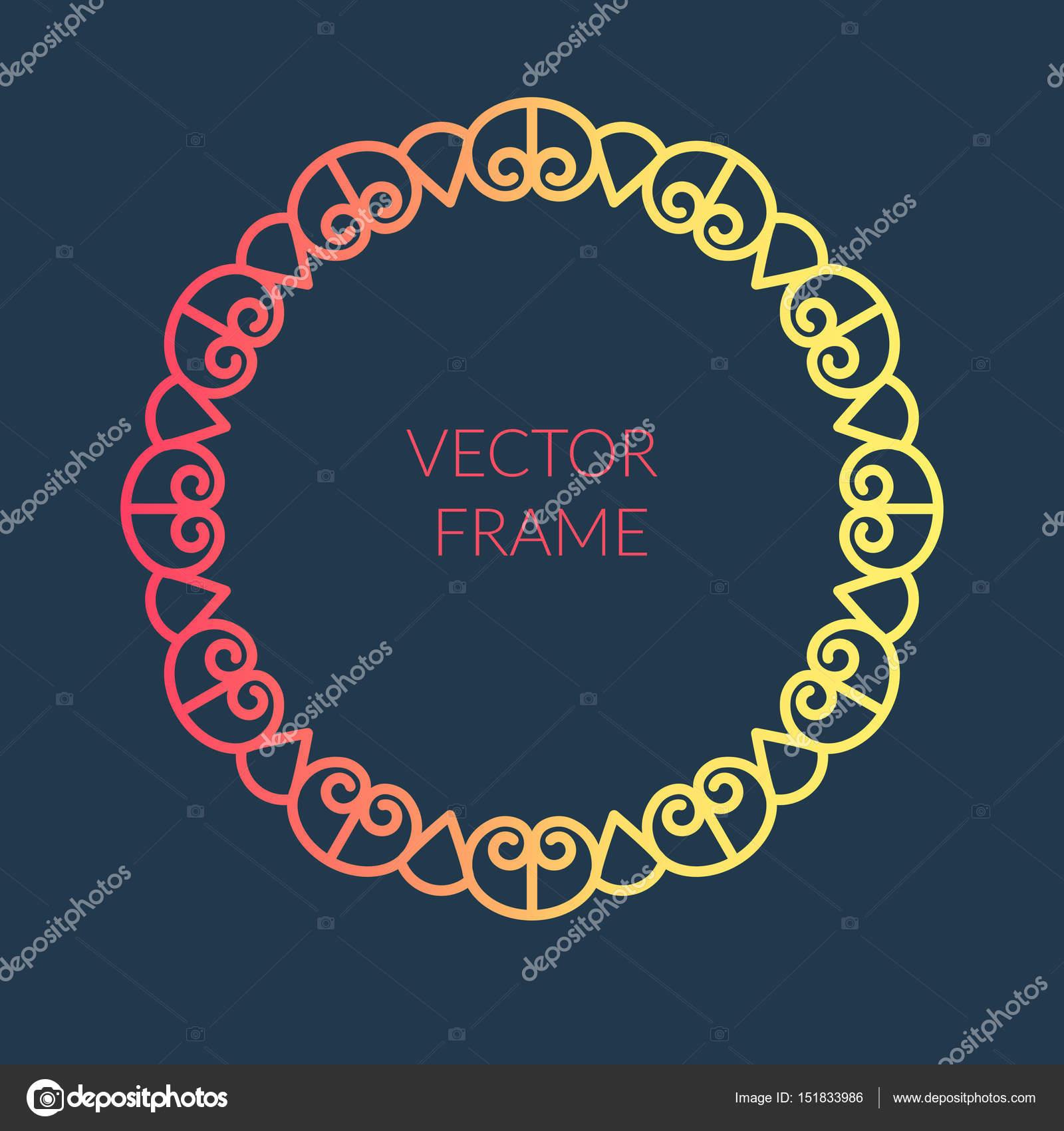 abstrakte runden Rahmen-Design-Vorlage — Stockvektor © a.zhur #151833986