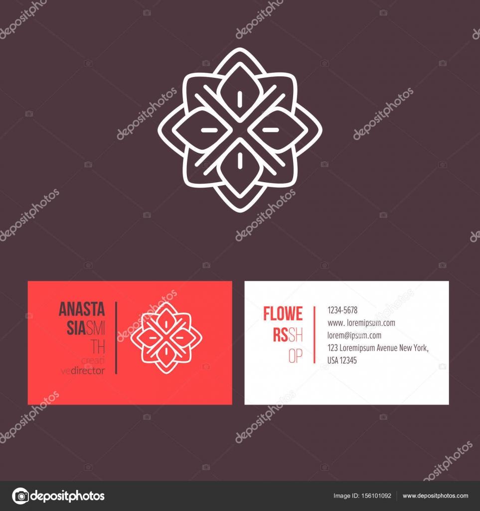 Diseño de logotipo con plantilla tarjetas — Archivo Imágenes ...