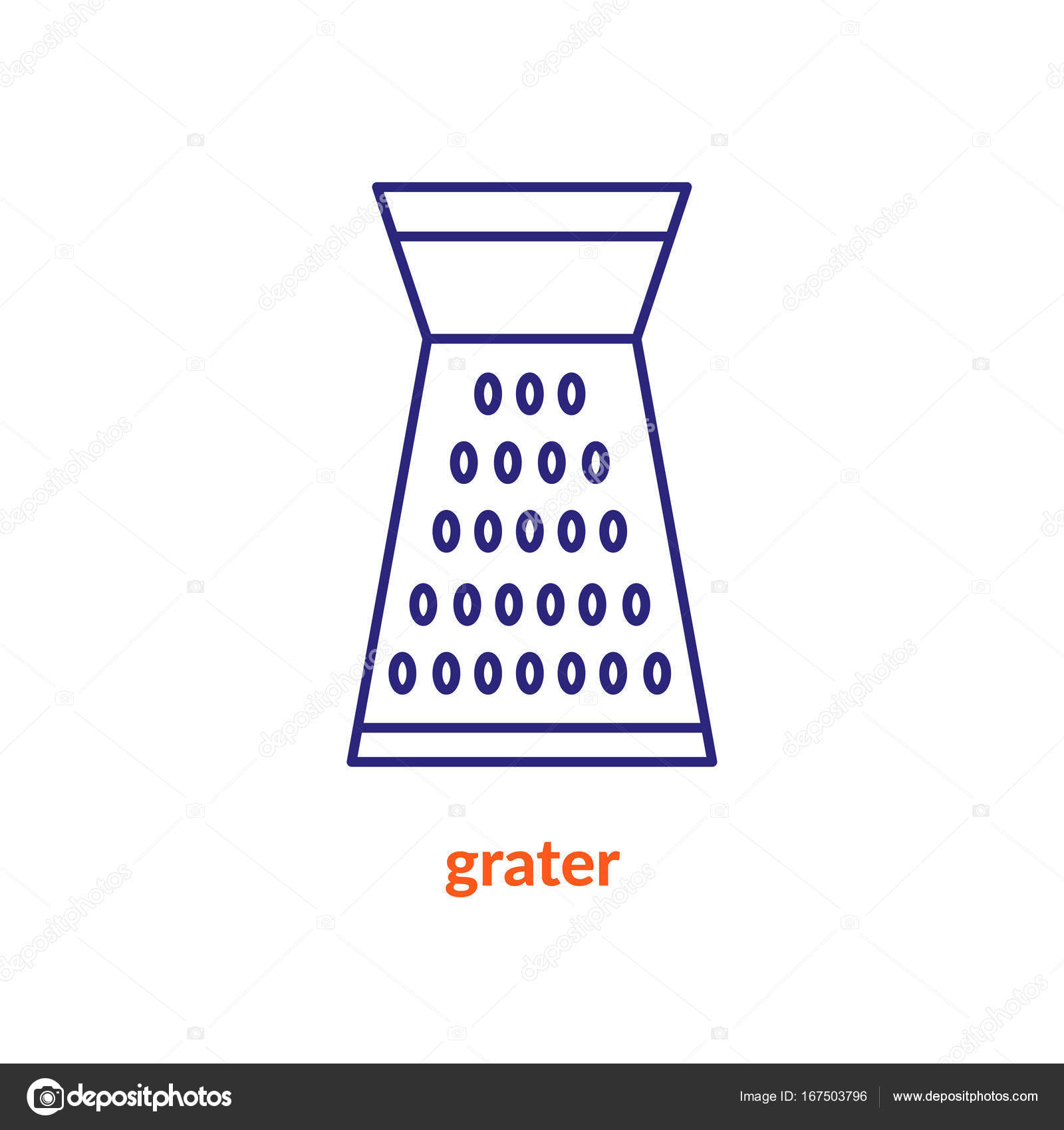 Flat Icon Kitchen Grater U2014 Stock Vector