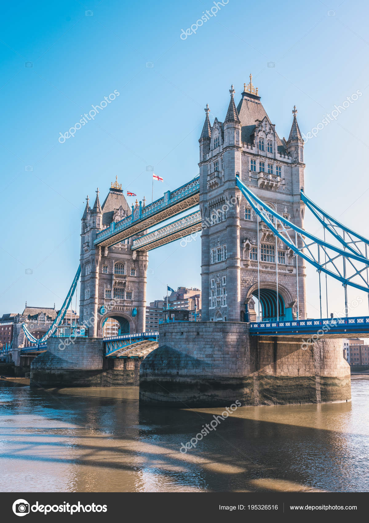 World Famous Tower Bridge Over River Thames On Bright Sunny Day National Symbols Of England Photo By Chensey7