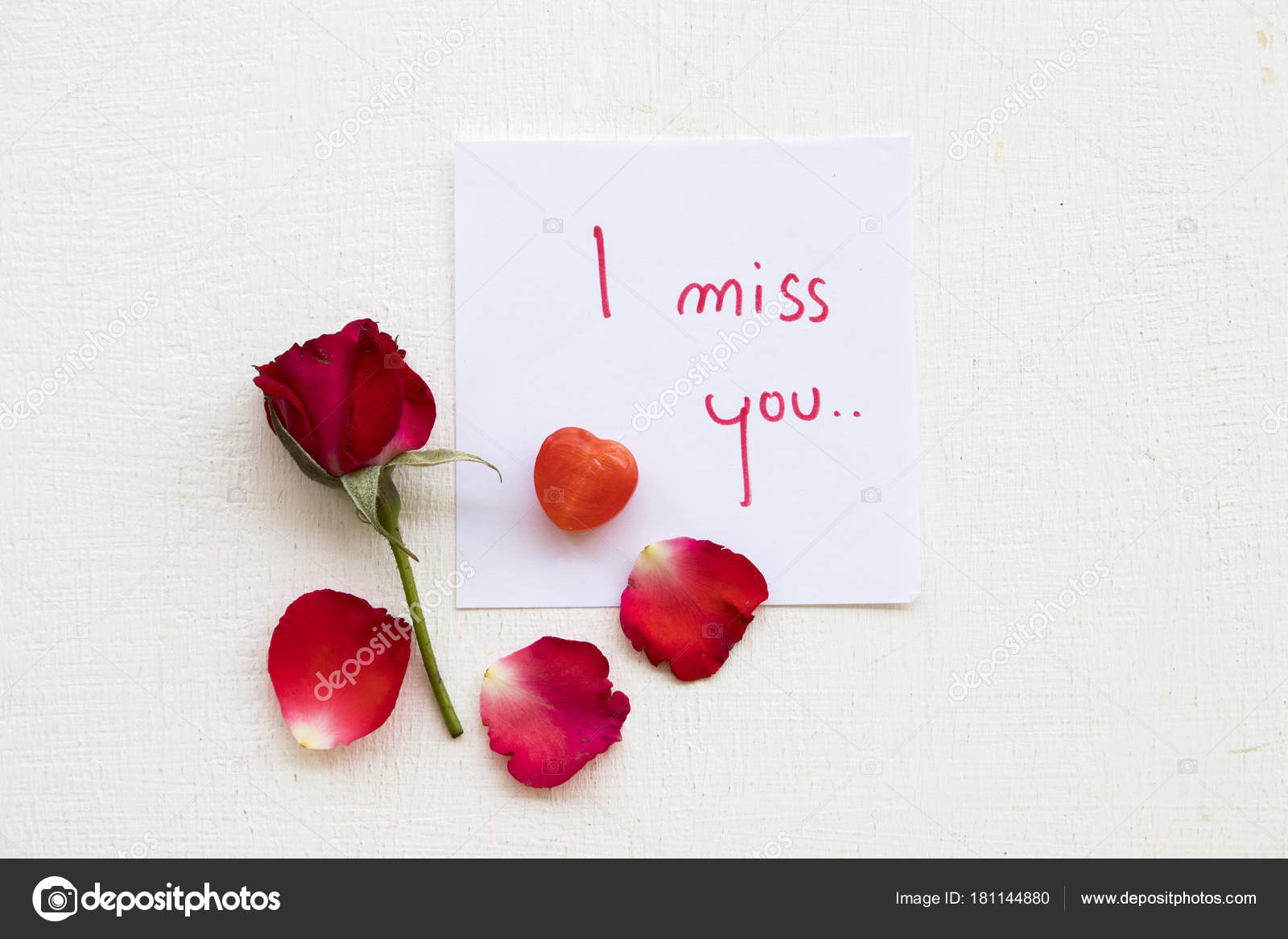 Miss you message card red rose background white stock photo miss you message card red rose background white stock photo m4hsunfo