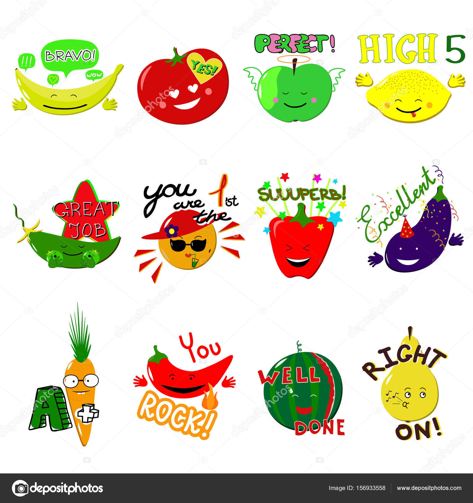 vector achievement school labels. set of 16 vector stickers with