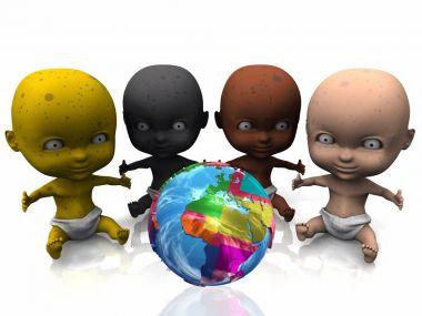 multi ethnic babies