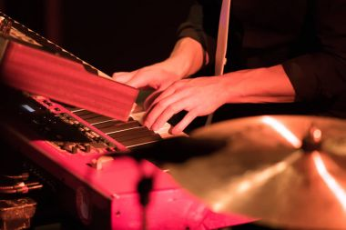 keyboard player and hands