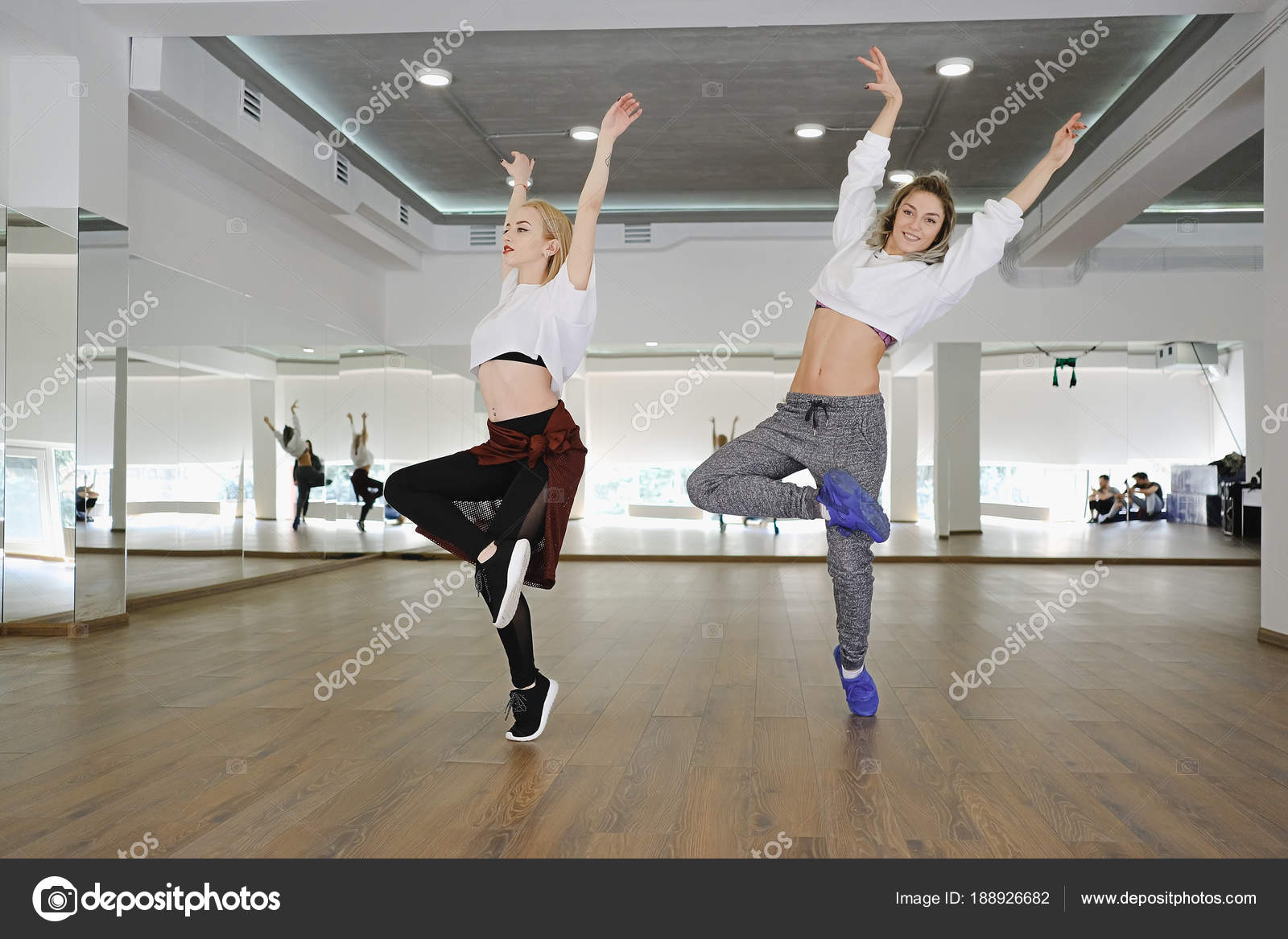 Two Hip Hop Dancing Girls Stock Photo C Diignat 188926682