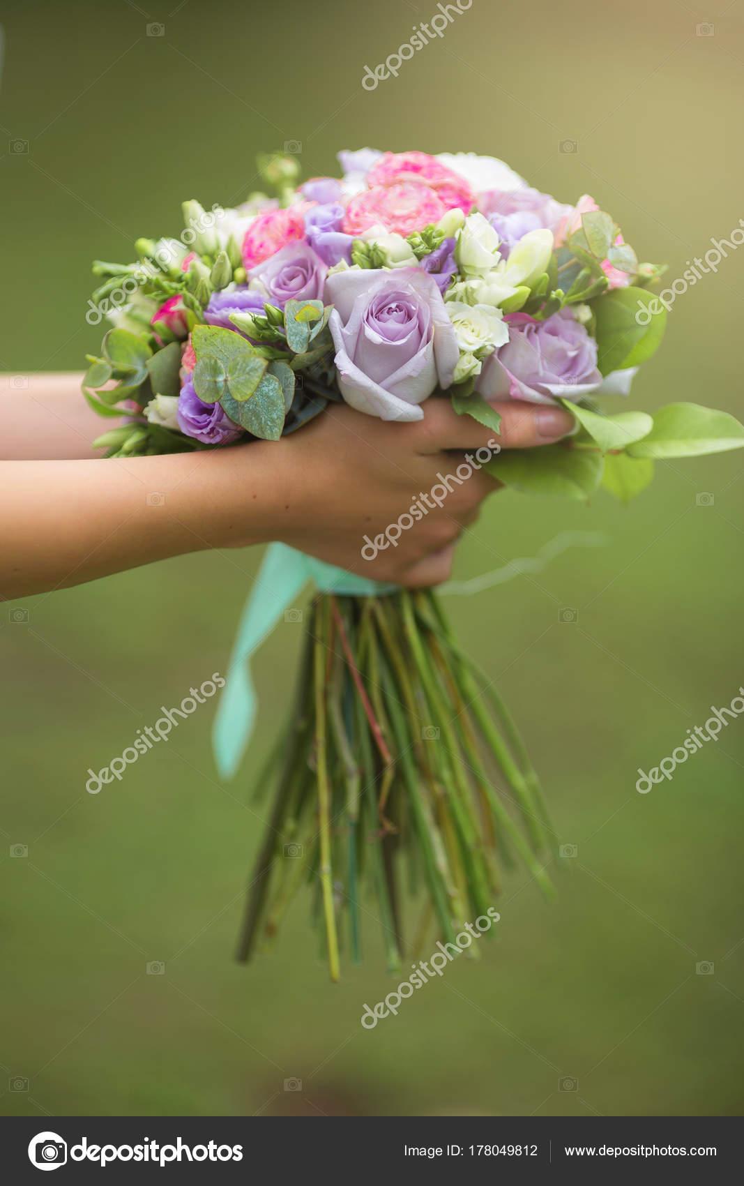 Beautiful stylish wedding bouquet fresh flowers hands bride wedding beautiful stylish wedding bouquet fresh flowers hands bride wedding day stock photo izmirmasajfo