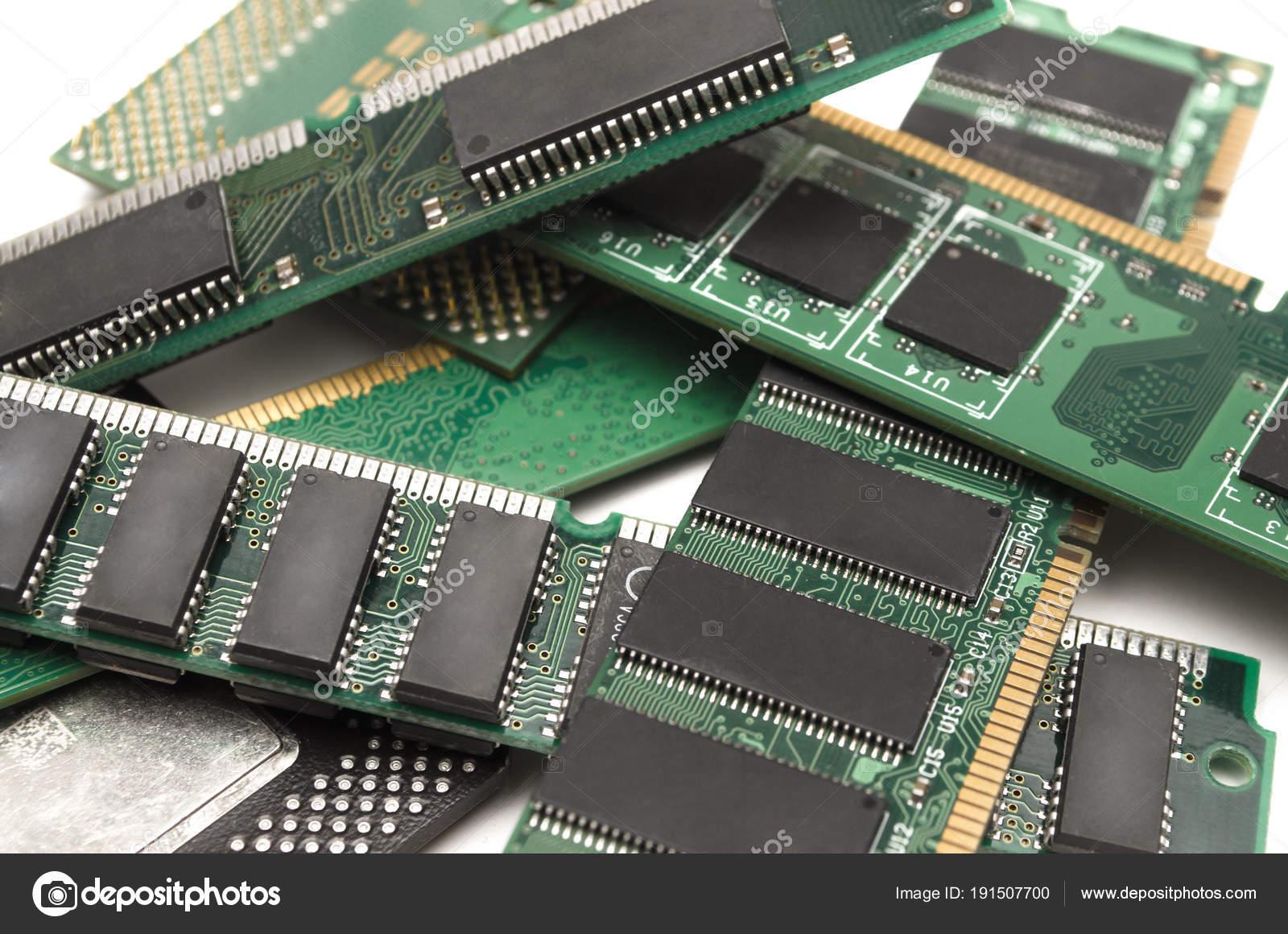 Módulos Memoria Computadora Chip Procesador Aislado Foto