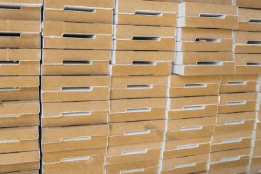 Decorative mouldings in warehouse