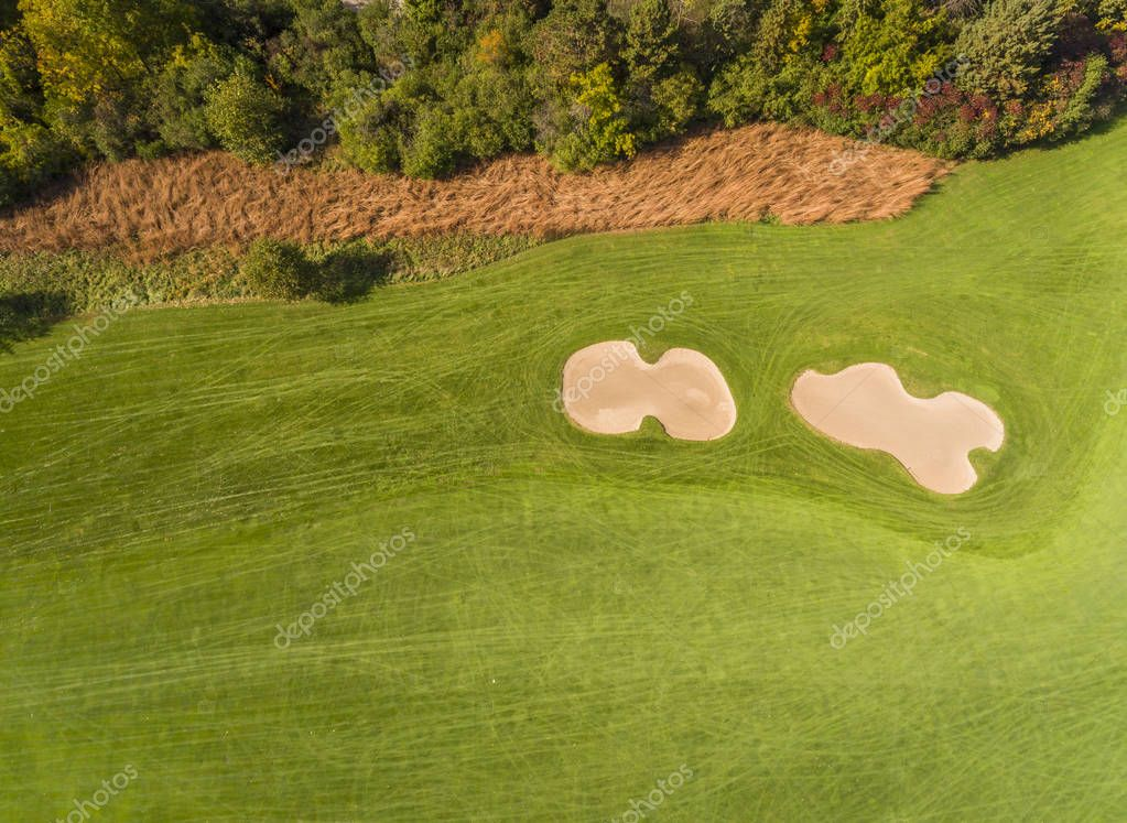 Aerial above Golf Course