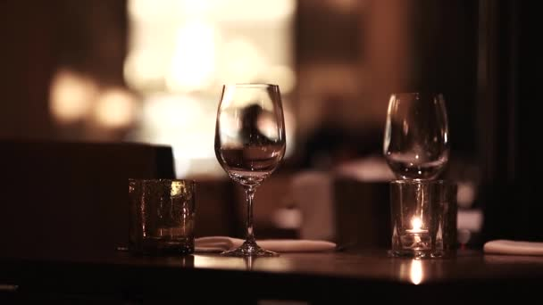 Restaurant ambience detail footage