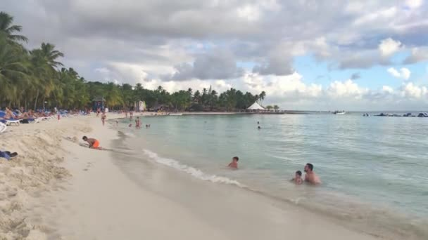Dominican beach people in Bayahibe