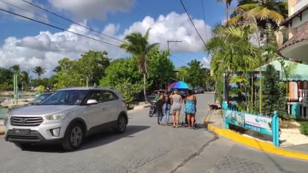 BAYAHIBE, DOMINICAN REPUBLIC 23 DECEMBER 2019: Bayahibe people on street