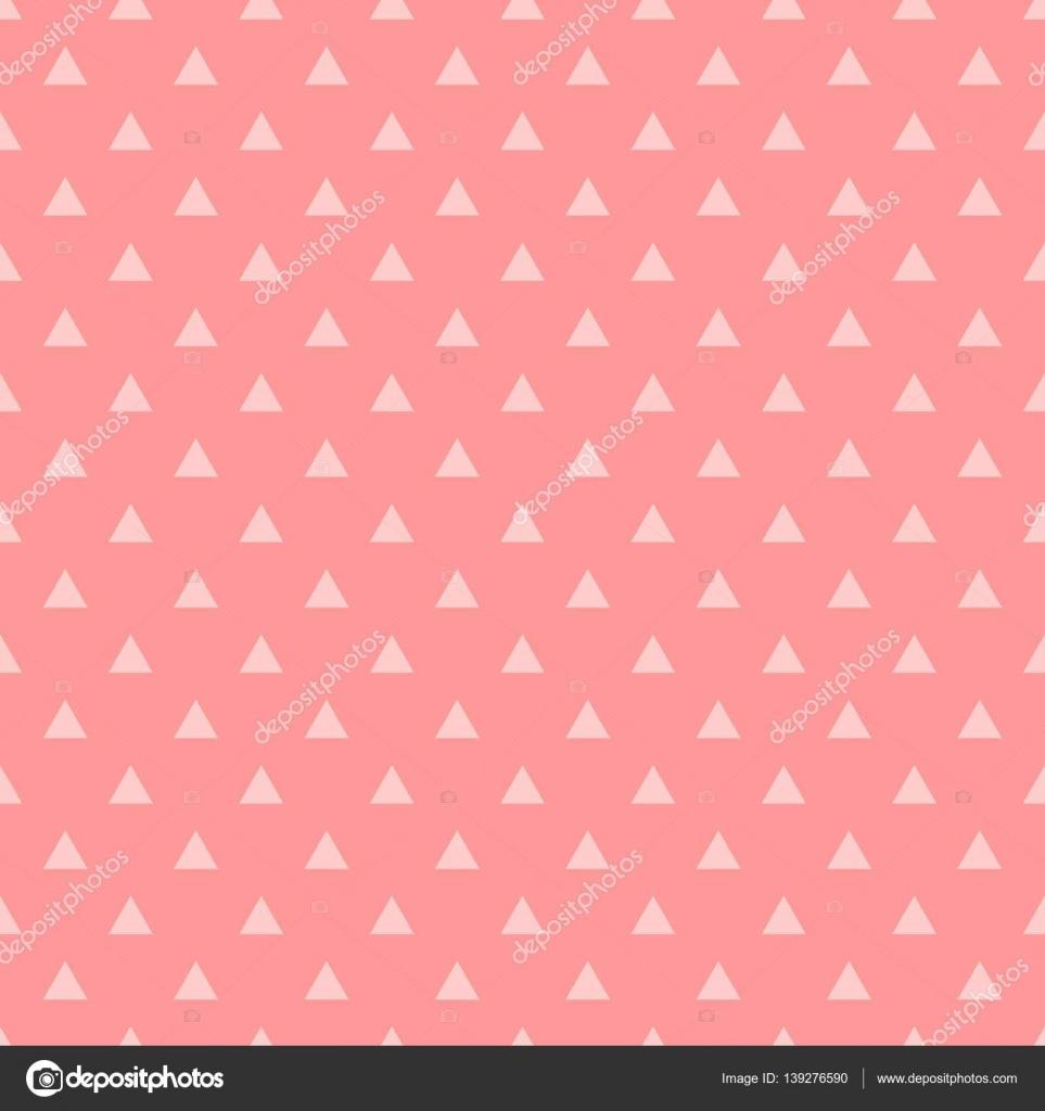 Azulejos Patron Vector Con Triangulos Rosas Sobre Fondo Rosa Pastel - Azulejos-rosas