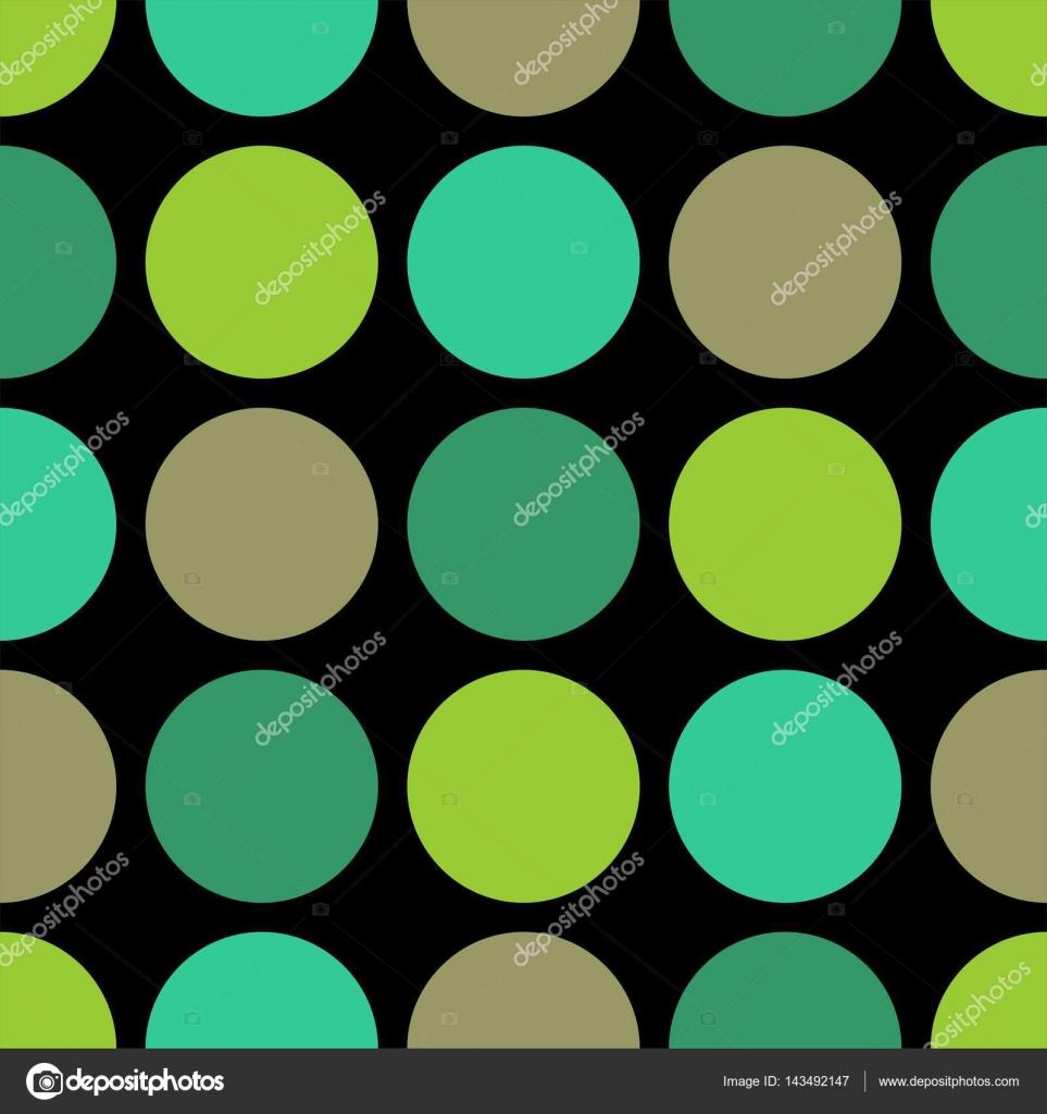 azulejos patrn vector con lunares verdes sobre fondo negro para el papel pintado decoracin u vector de malama