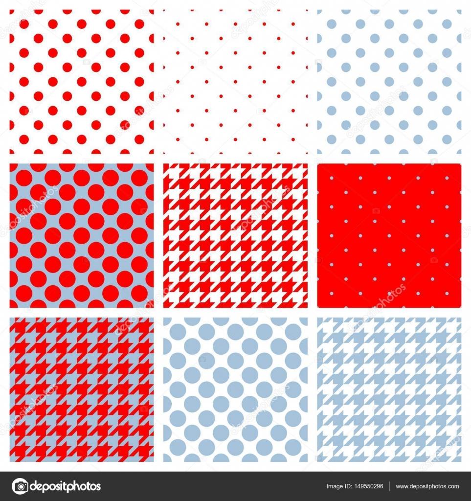 Sfondo Pois Bianco E Rosso Blu Bianco E Rosso Tegola Vettore
