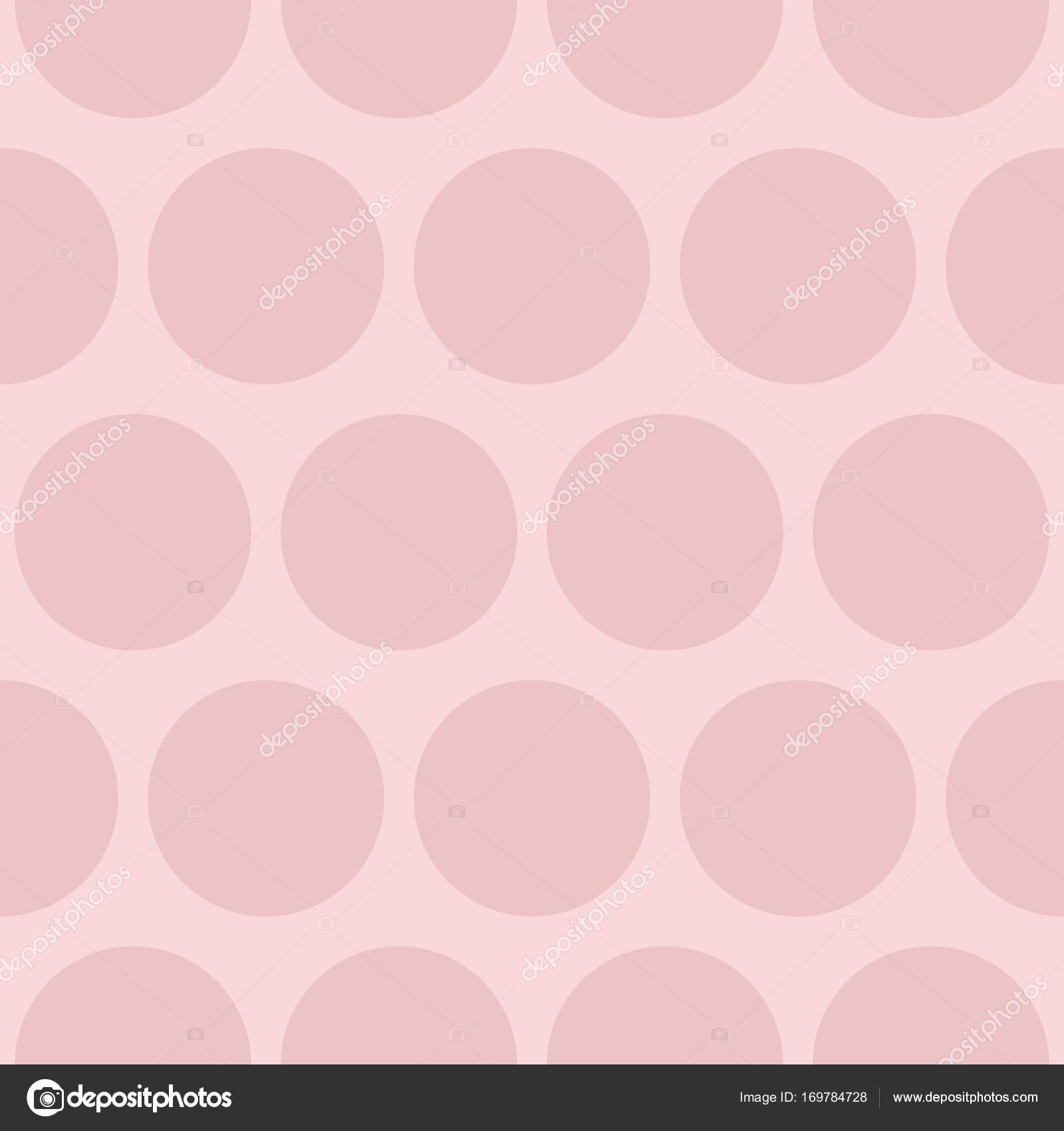 Azulejos Patron Vector Con Lunares Rosas Sobre Fondo Pastel Vector - Azulejos-rosas