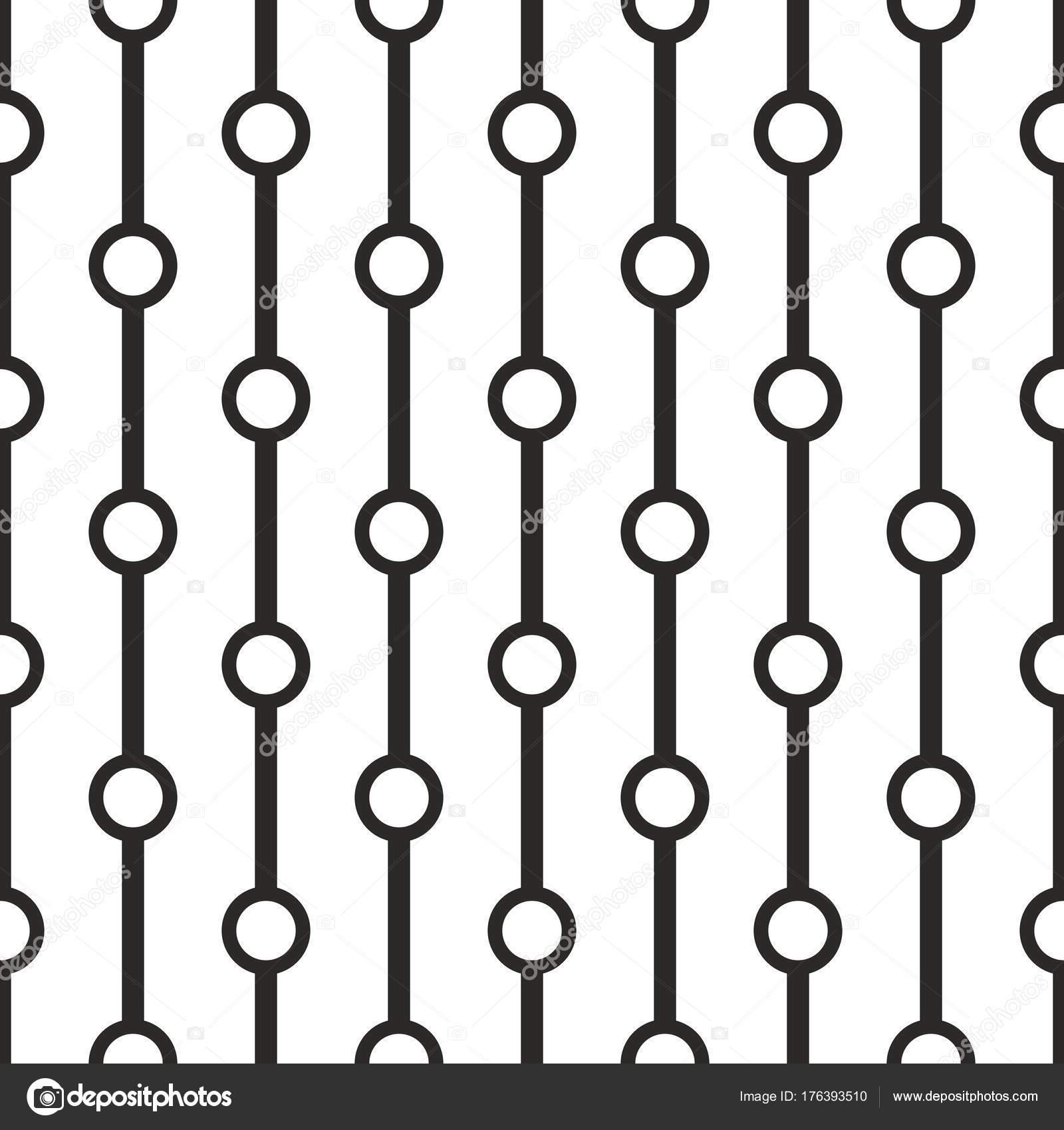 Tile Black White Vector Pattern Simple Geometric Background