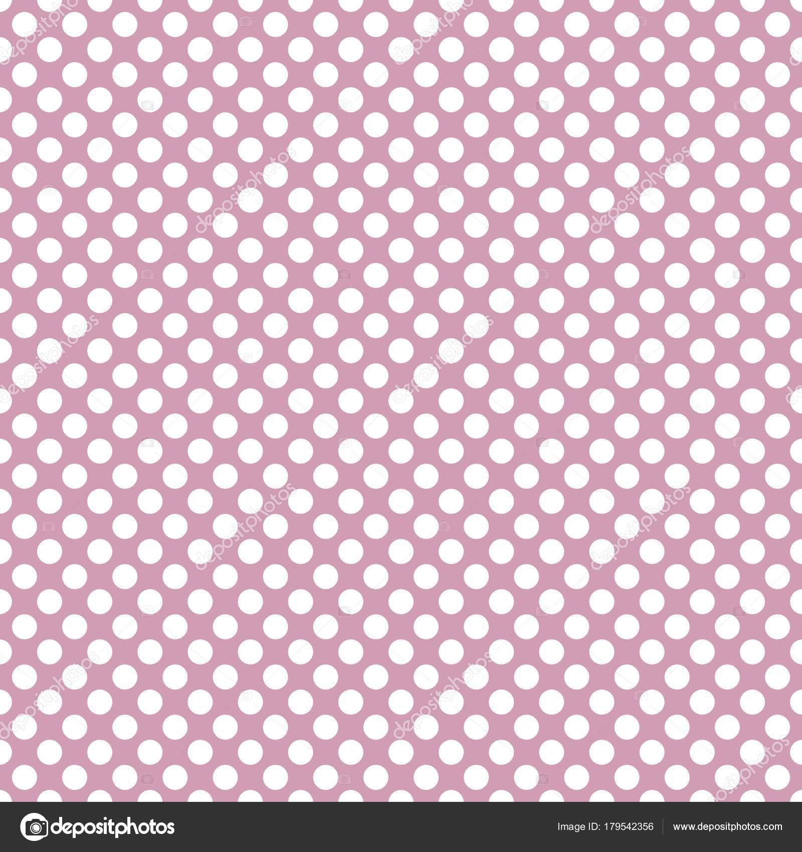 Sfondo Rosa Pastello Reticolo Vettore Con Pois Bianchi Sfondo