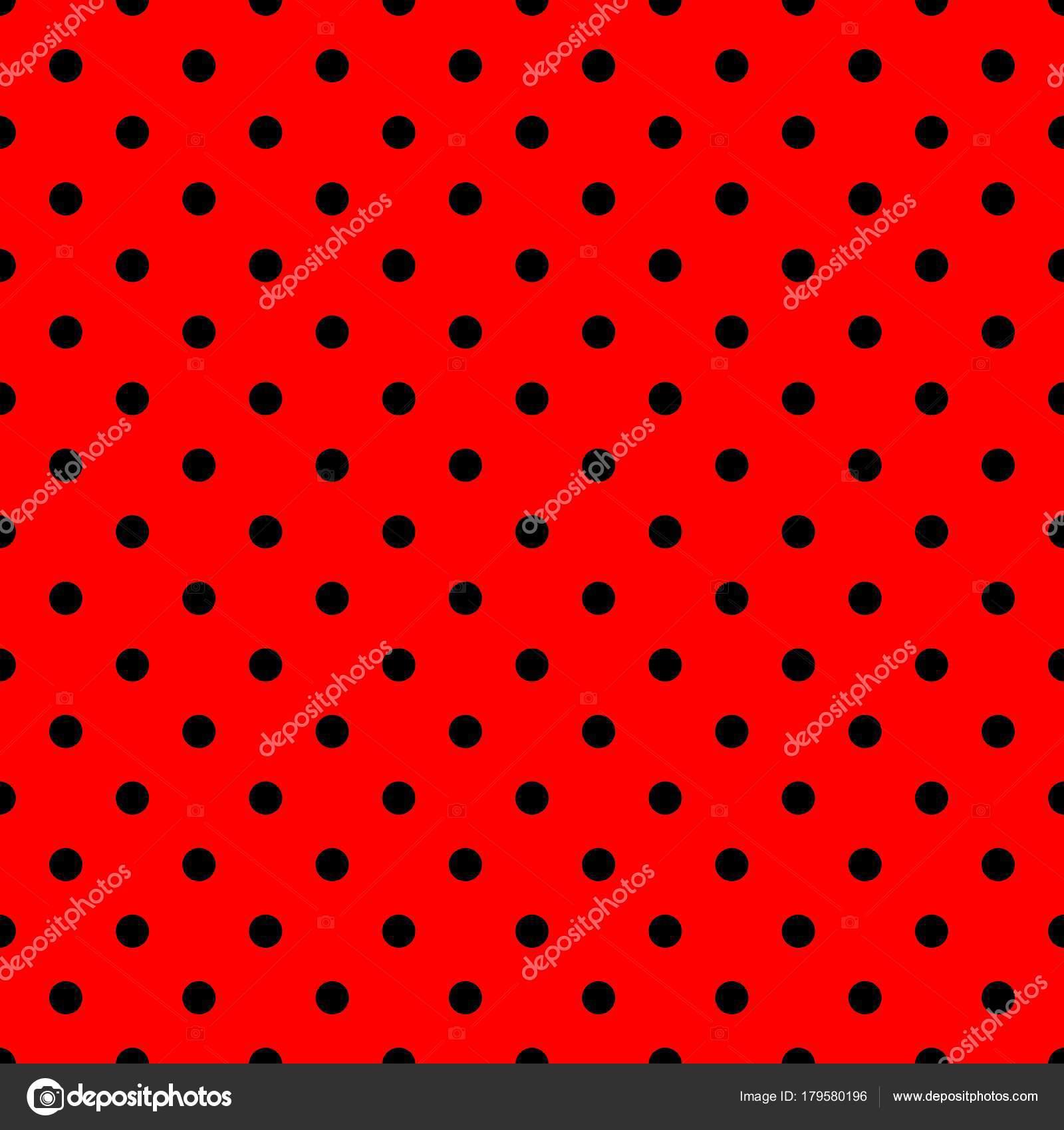 Sfondo rosso pois neri