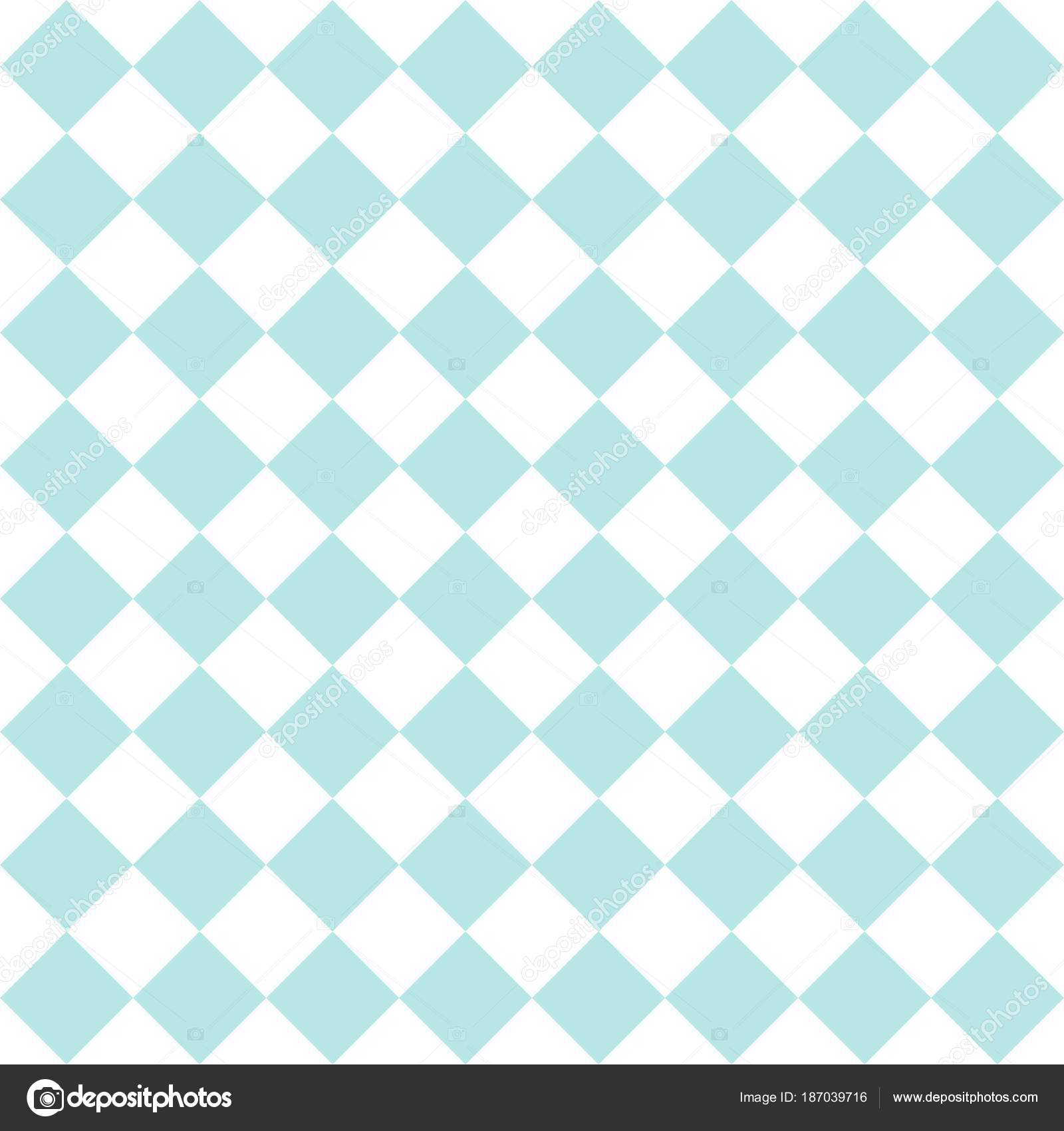 Checkered Tile Vector Pattern Mint Green White Wallpaper Background ...