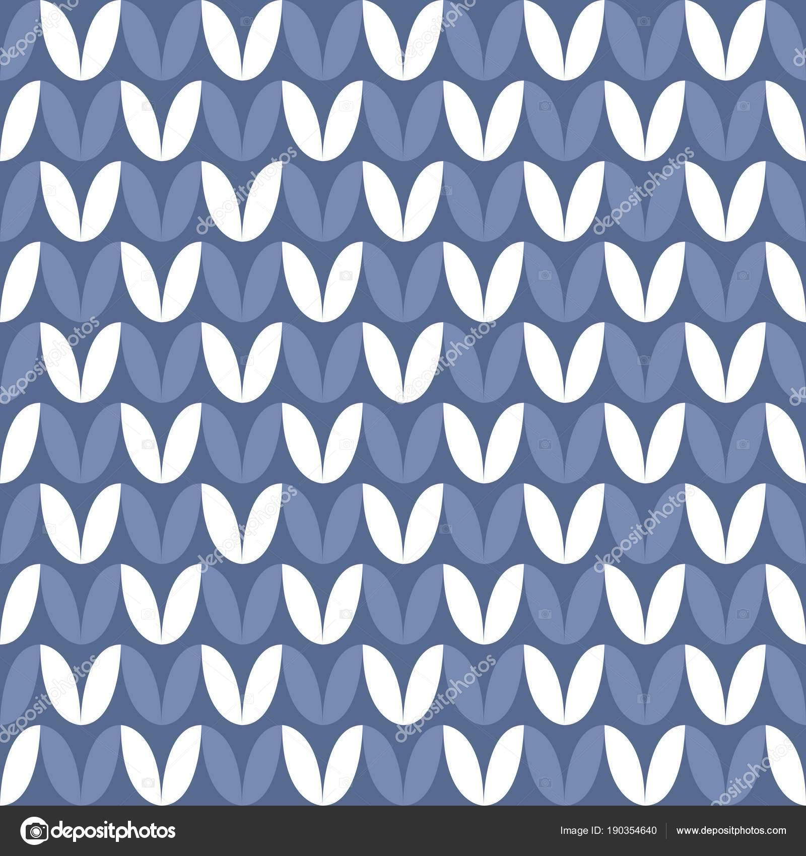 Carrelage Bleu Blanc Tricot Vector Pattern Hiver Fond Image - Carrelage bleu