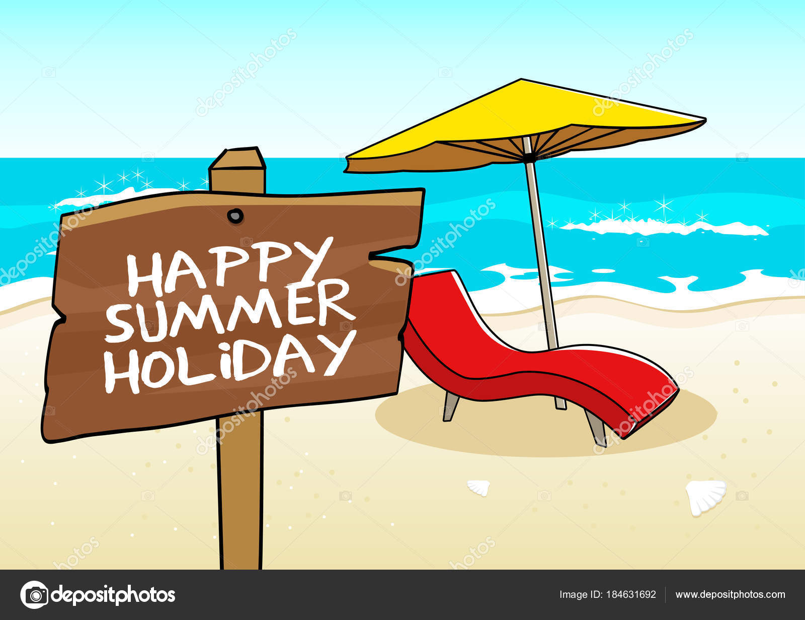 Happy Summer Holiday Stock Vector