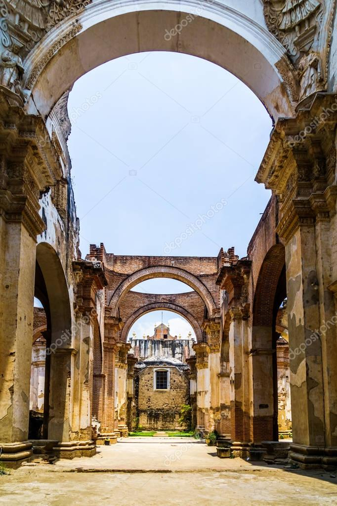 Ruin of church in Antigua - Guatemala
