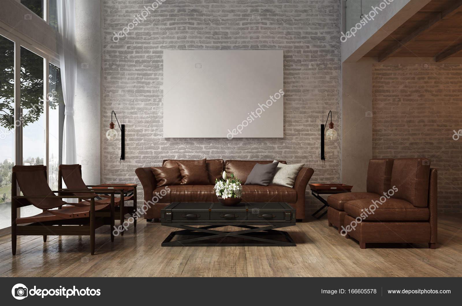 Das Interior Design der Lounge und Wohnzimmer und Sofa-Set und ...