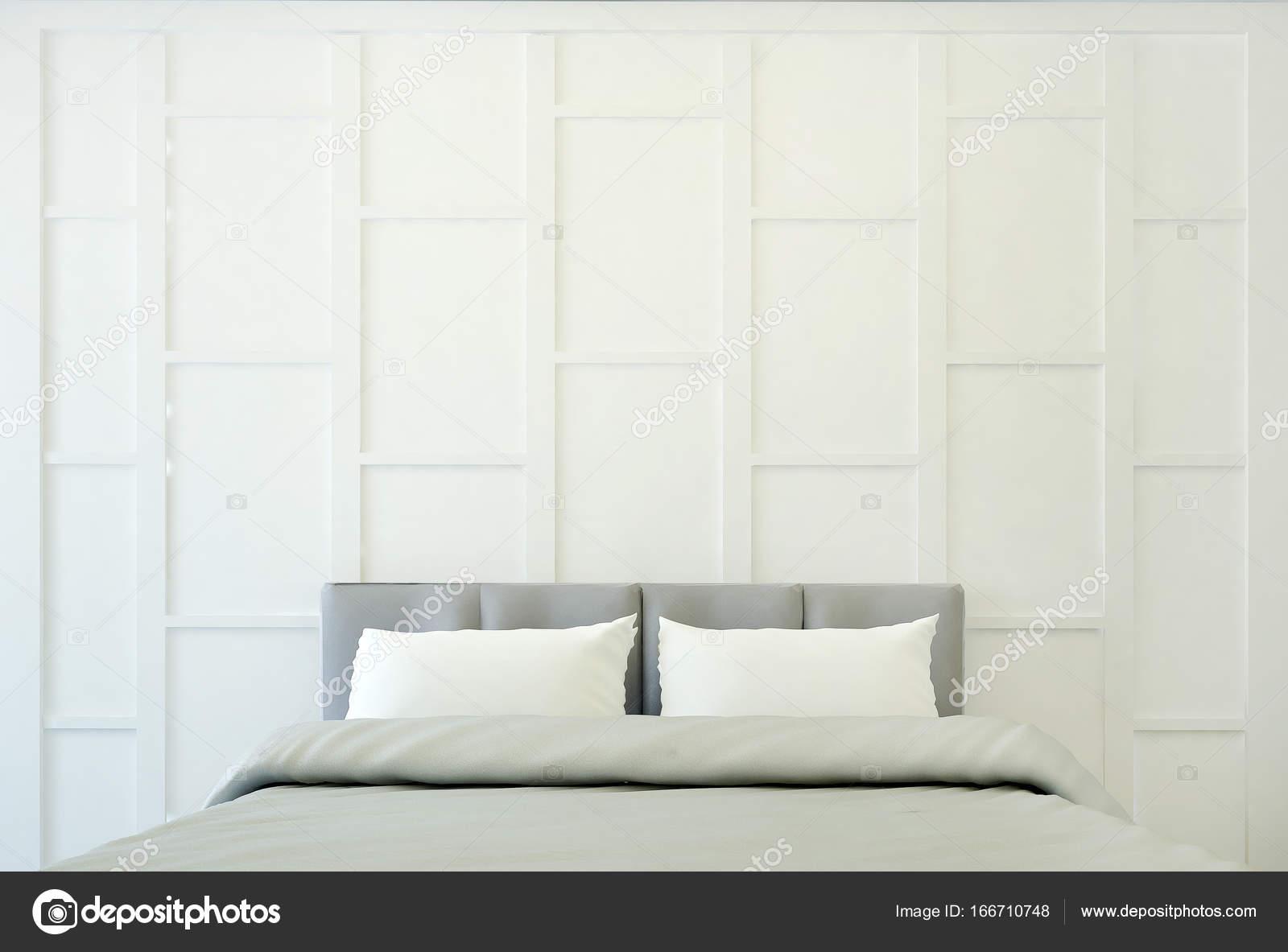 Das Interior Design Des Luxus Schlafzimmer Und Wand Dekorieren /  3D Rendering U2014 Foto Von Teeraphan