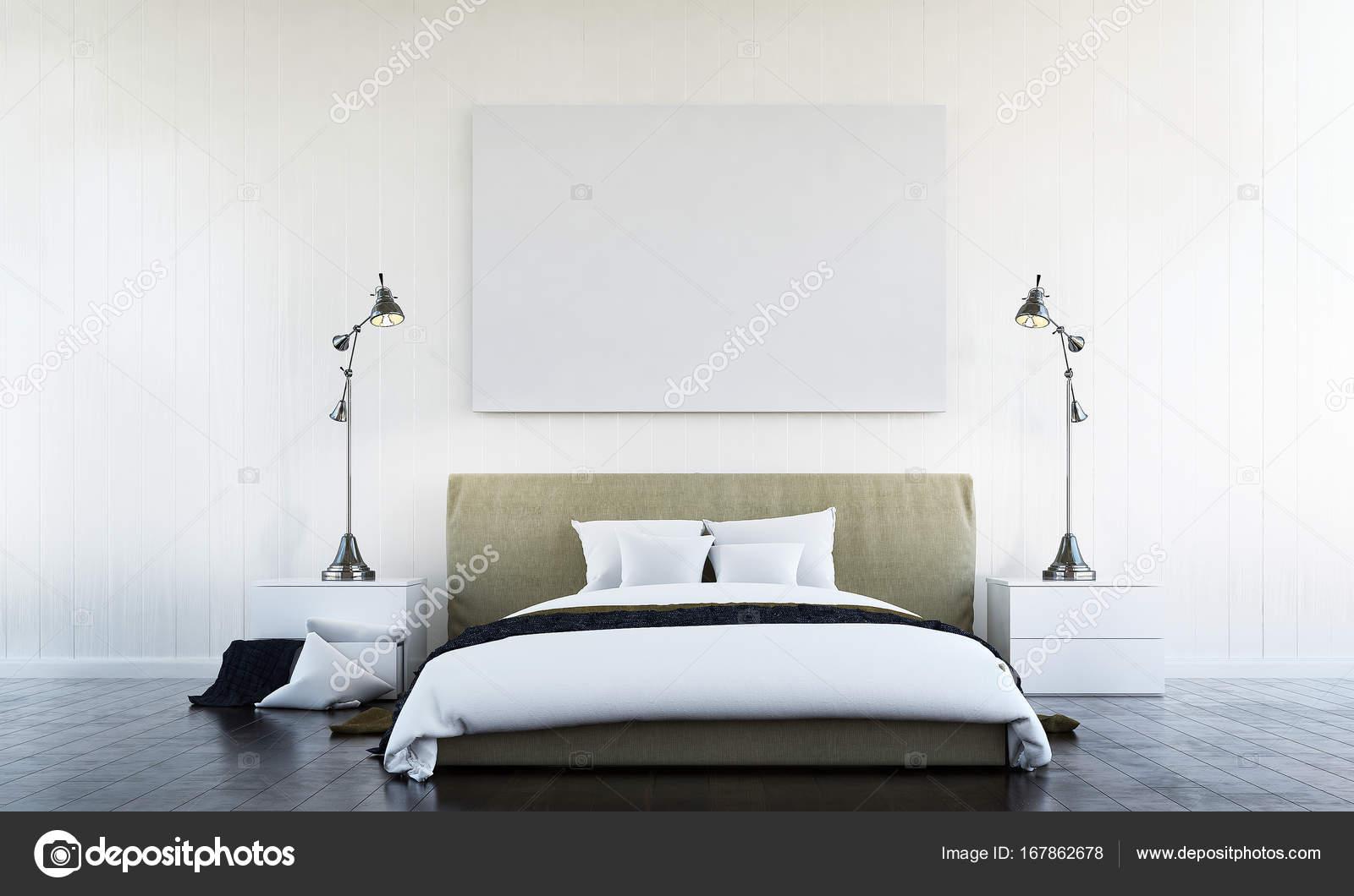 L\'arredamento della camera da letto e parete bianca texture e foto ...