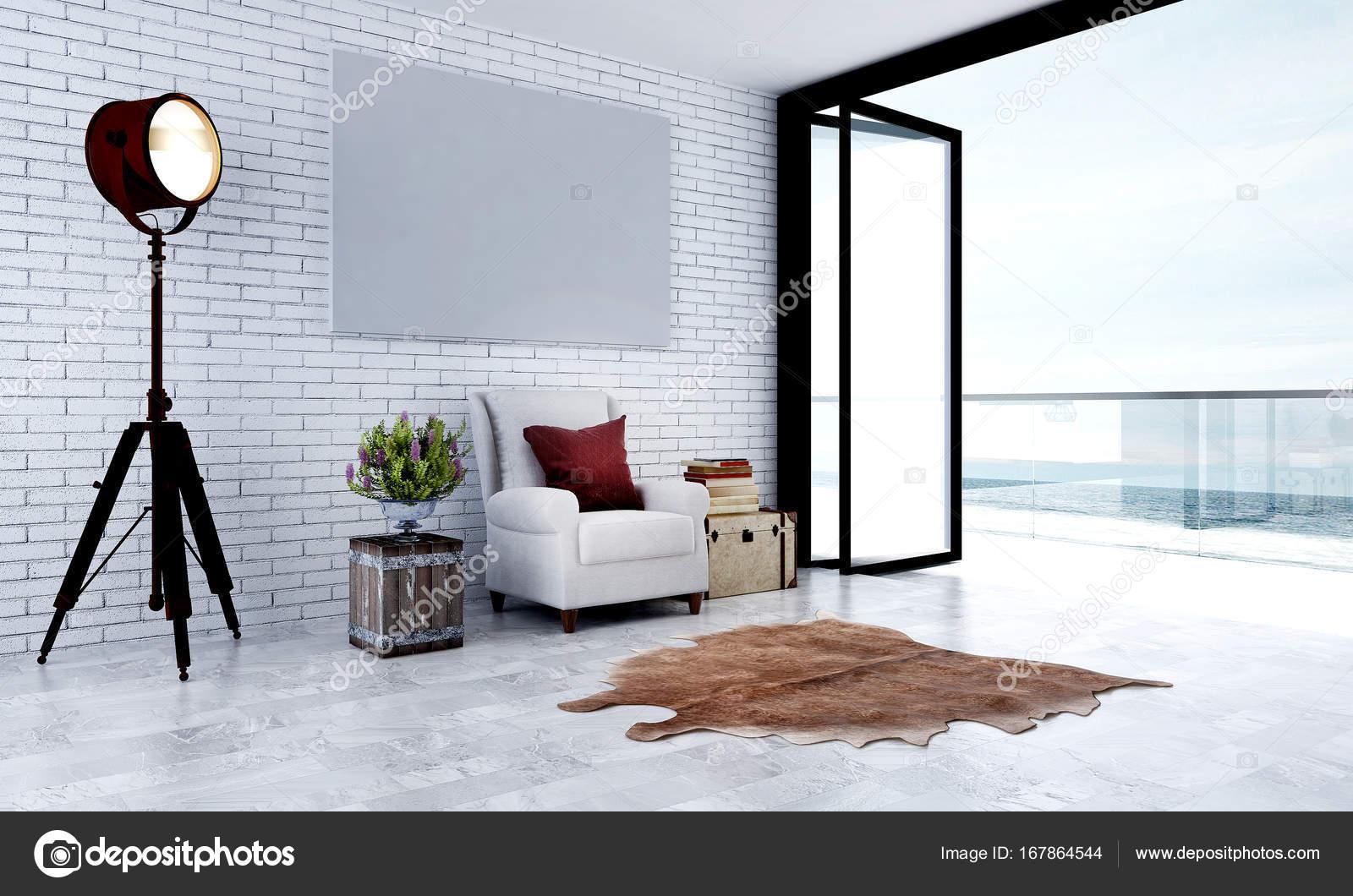 Die Innenarchitektur Idee von minimal Lounge Wohnzimmer und Blick ...