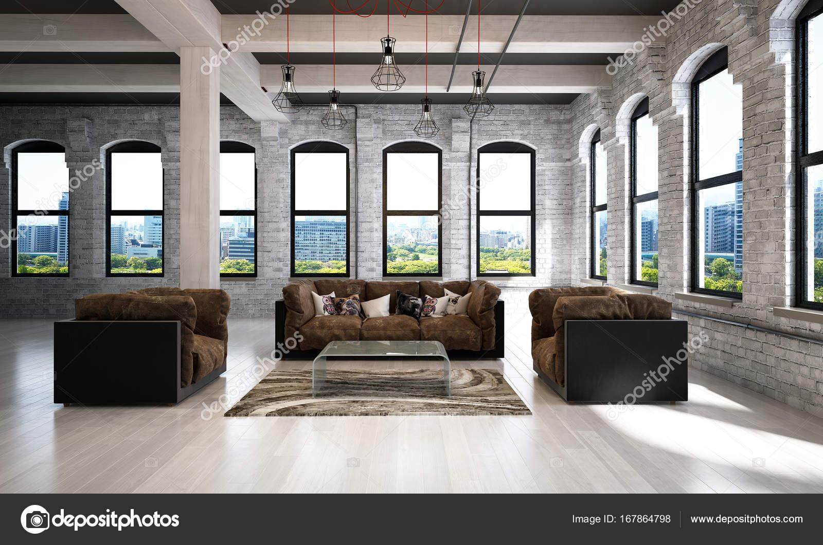 L\'idea di interior design di lusso soggiorno e bianco muro di ...