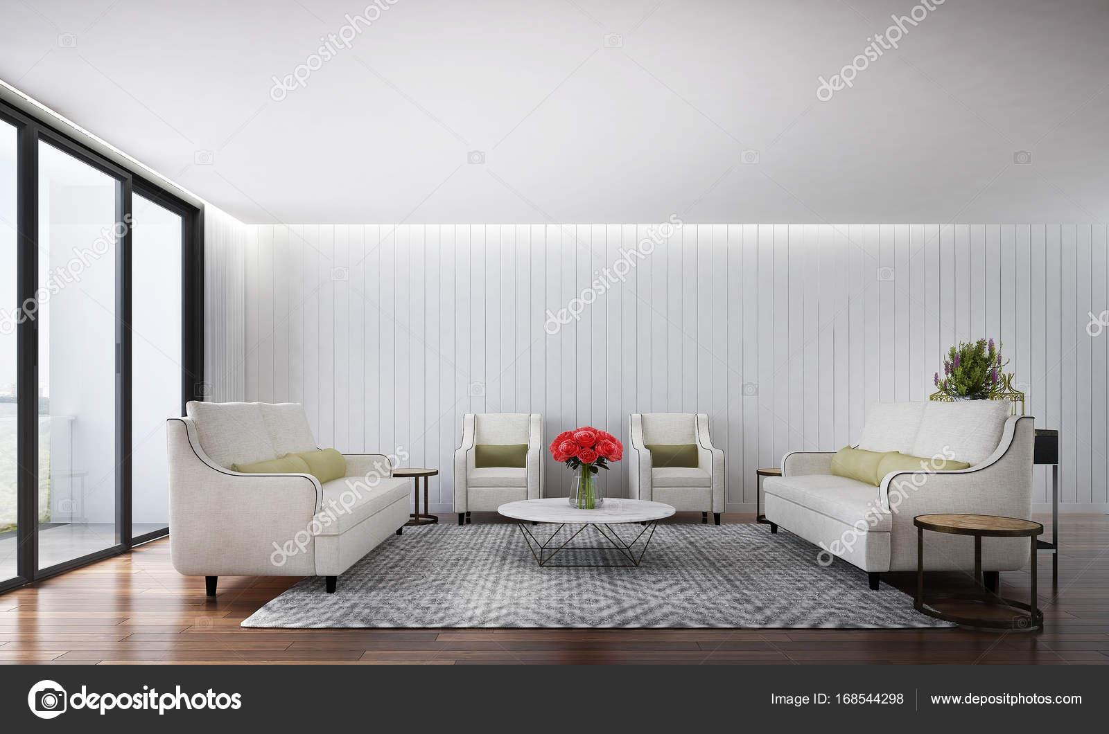 Das Interior Design des Luxus Lounge Sofa und Wohnzimmer und Holz ...