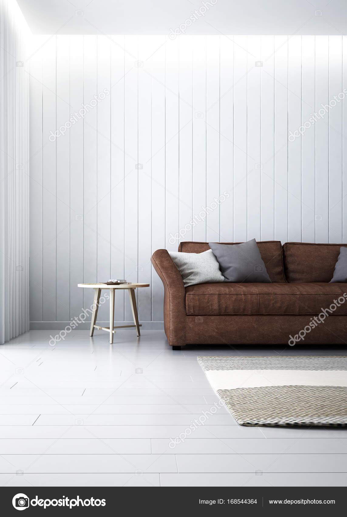 Het interieur van de moderne lounge stoelen en woonkamer en hout ...