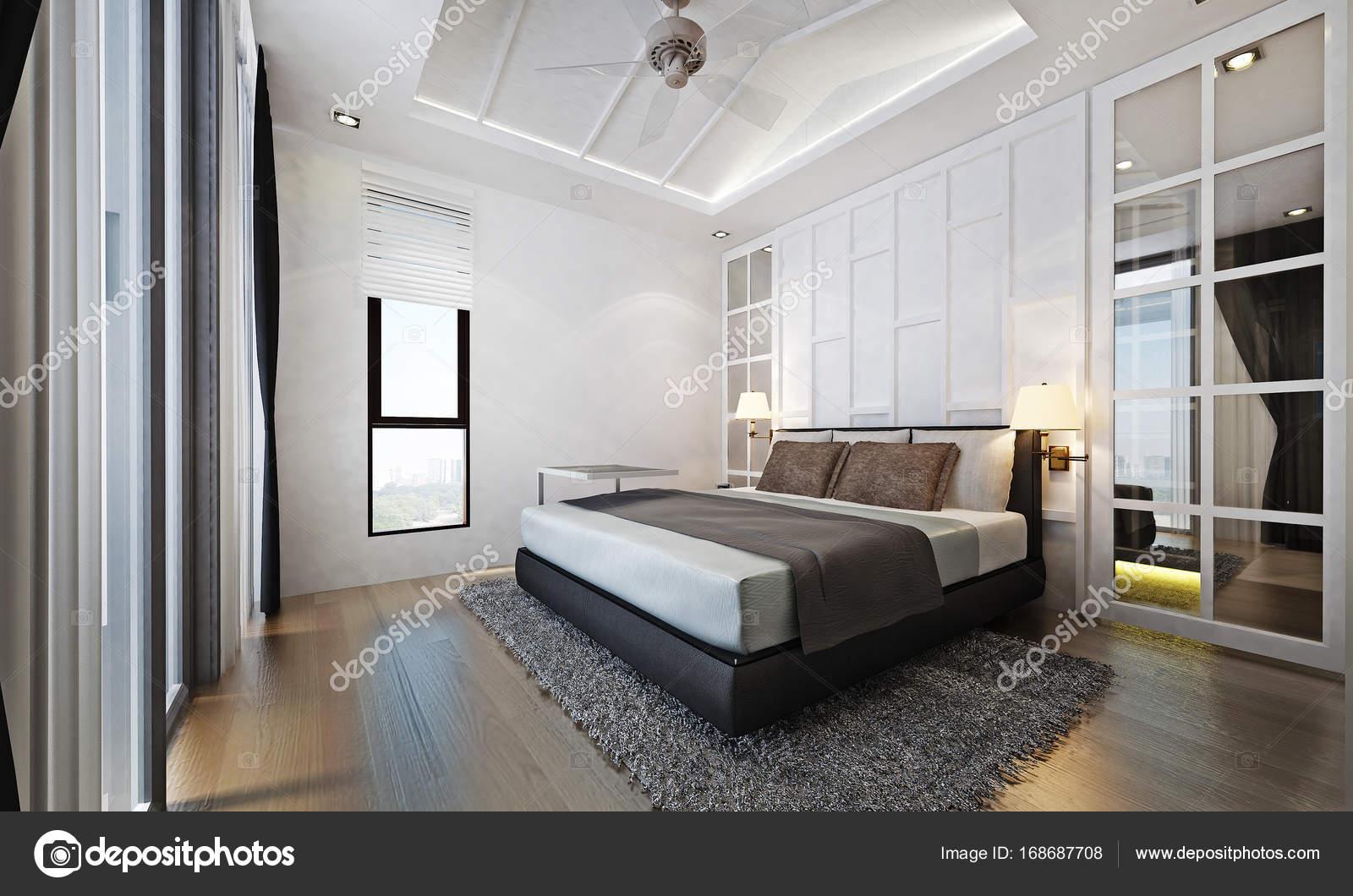 Das Thai moderne Bett Zimmer Interior design — Stockfoto © Teeraphan ...