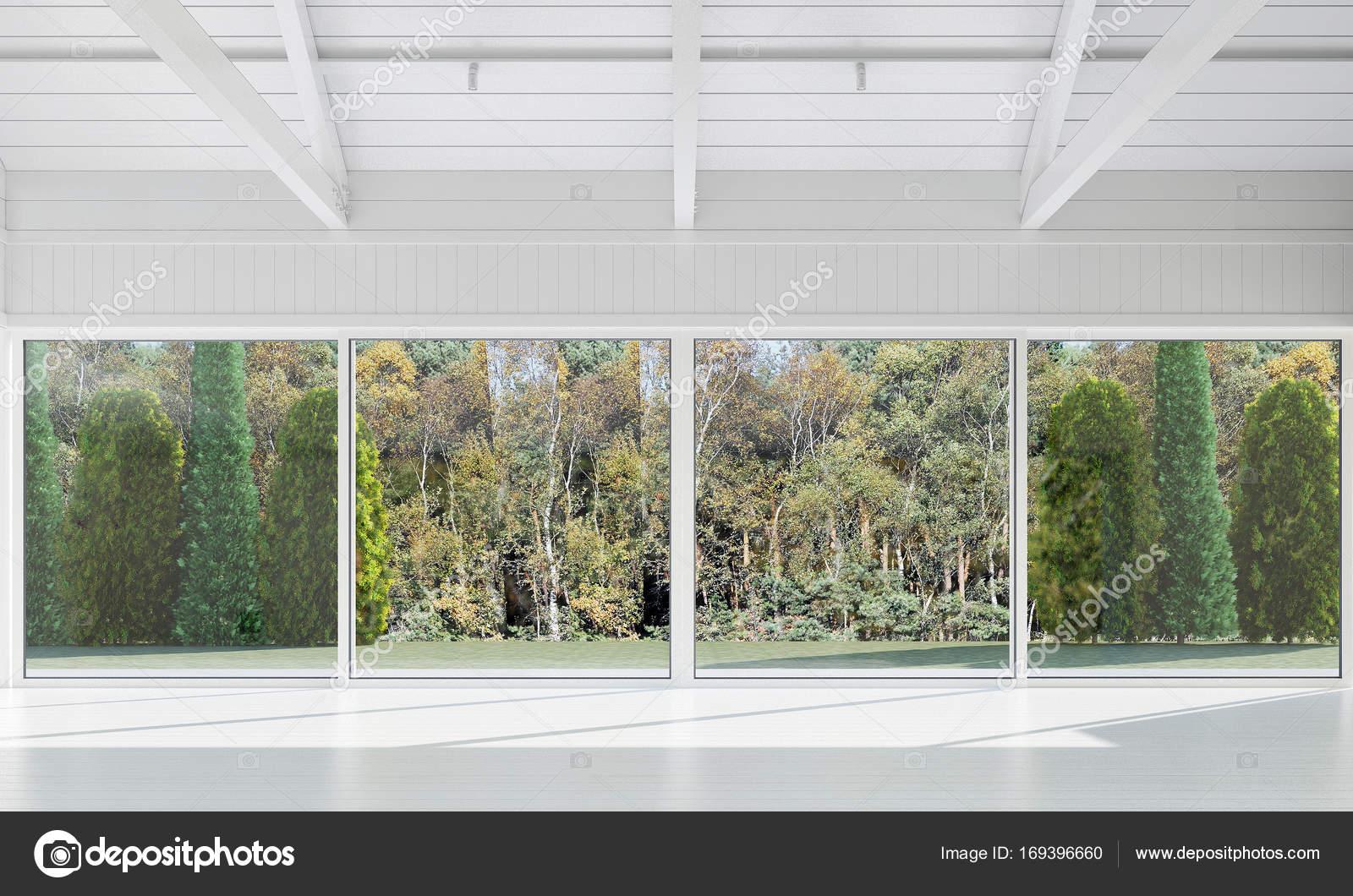 Die Innenausstattung des leeren Lounge und Wohnzimmer und Blick auf ...