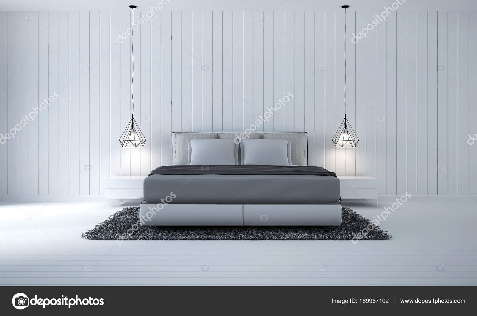Camera Da Letto Legno Bianco : L arredamento della camera da letto e parete in legno bianco