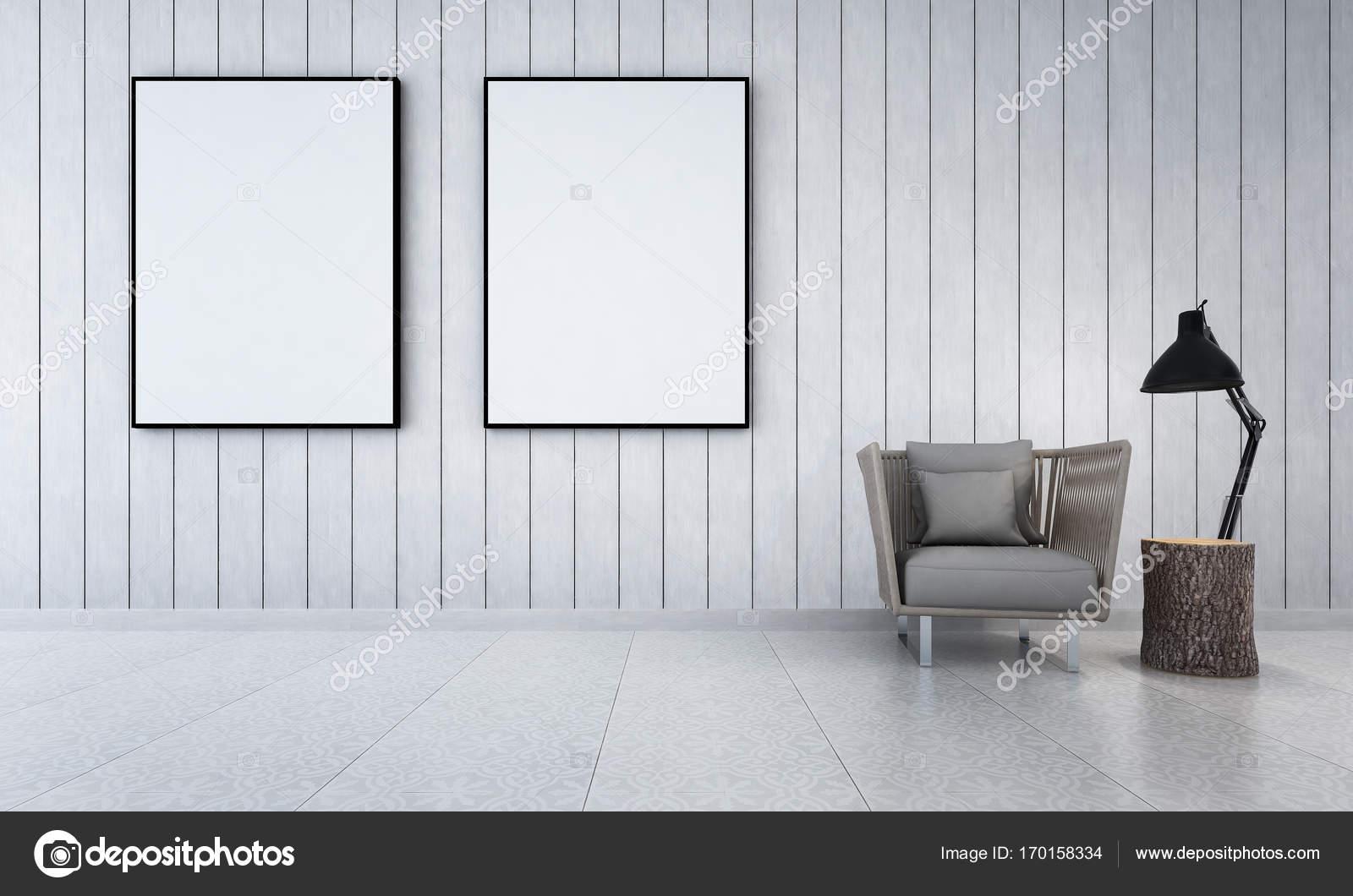 3D Rendering Interior Design Der Lounge Und Wohnzimmer U2014 Foto Von Teeraphan
